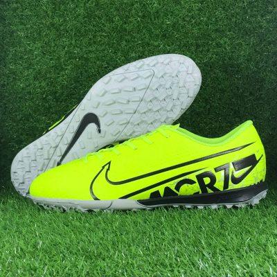 Giày Đá Bóng thương hiệu Nike Mercurial CR7 màu Xanh Dạ Quang (2)